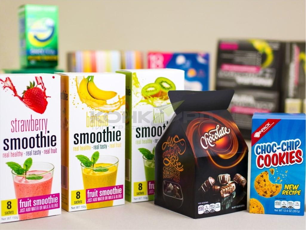 картонная упаковка для пищевой промышленности